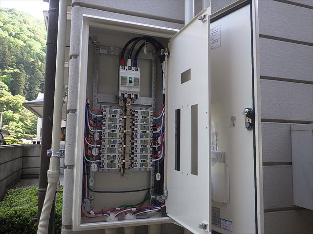 空調用分電盤の設置状況